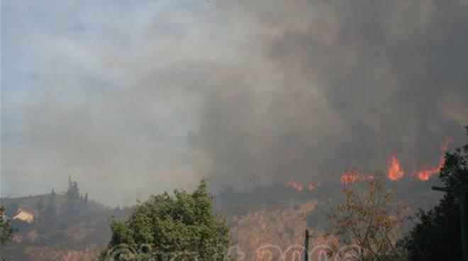 Incendio Pietra Ligure 11 settembre