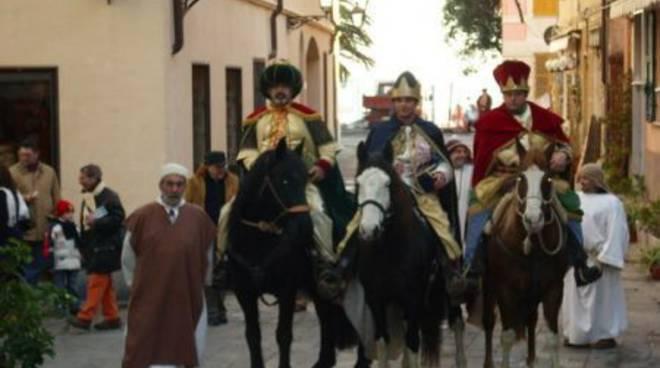 I tre magi al Presepe Vivente di San Nazario