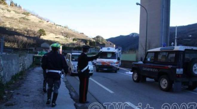 Suicidio dal viadotto - Finale Ligure - gennaio 2008