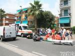 Pietra Ligure - frontale scooter viale della repubblica