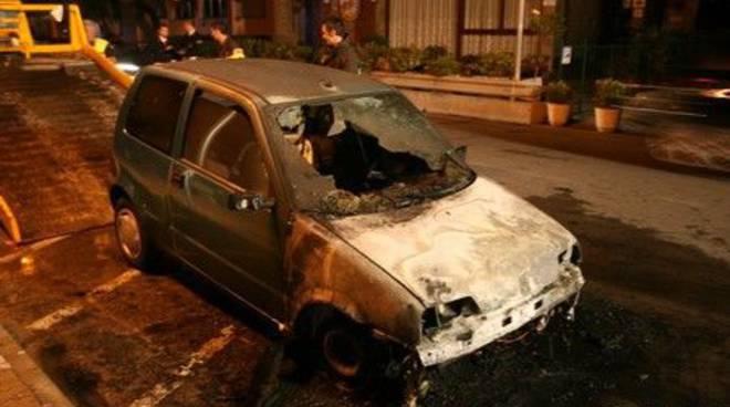 Pietra Ligure -  incendio auto