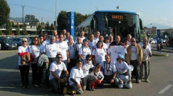 Striscione e magliette di Loano ai mondiali di ciclismo