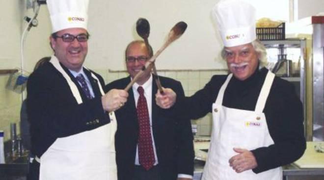 Gara tra giornalisti chef all'Alberghiero di Alassio