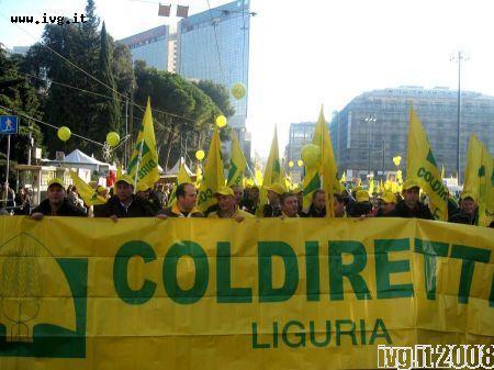Protesta Coldiretti, dicembre 2008