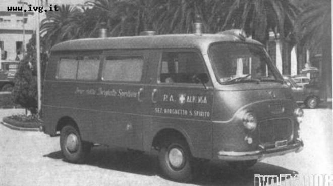 Croce Bianca, prima ambulanza Borghetto