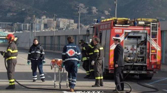 Vigili del fuoco e Croce Rossa