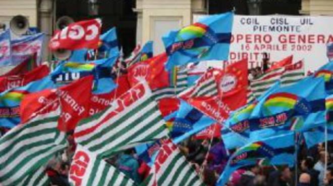 Manifestazione sindacale - Cgil, Cisl, Uil