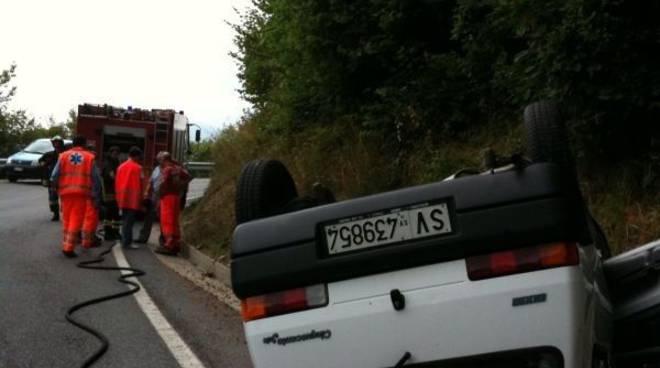 Incidente strada Melogno