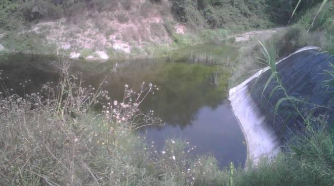 Invaso d'acqua a Boissano