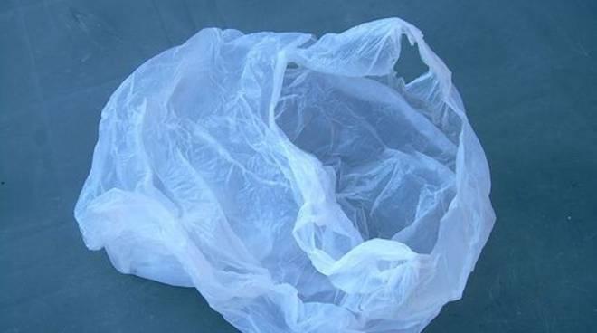 Sacchetto di plastica abbandonato
