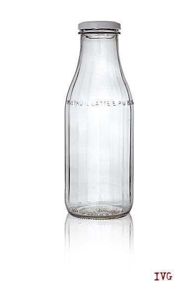 bottiglia latte crudo