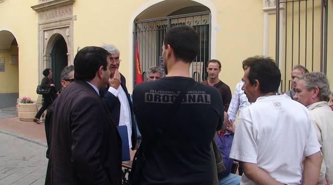 Pietra Ligure - Vesco e sindacati rodriquez