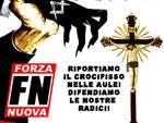 Manifestazione Pro crocifisso FN