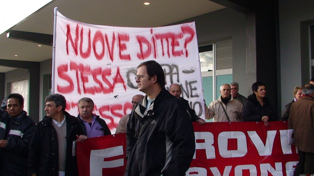 Savona - protesta lavoratori ferrovie