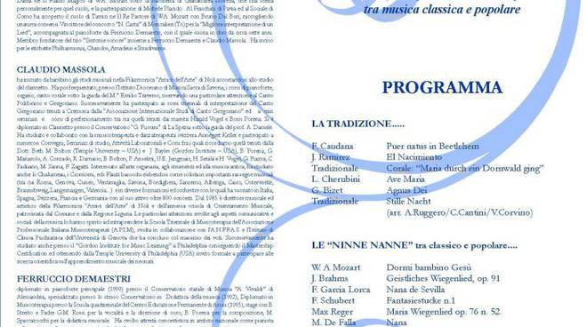 """Bergeggi - concerto natalizio trio """"Sintonie sonore"""""""