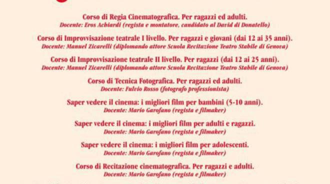 """Borgio Verezzi - corsi associazione """"Barone Rampante"""""""