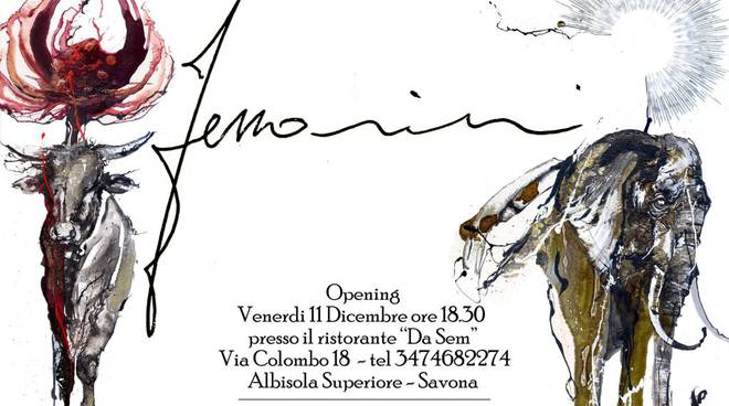 """evento Arte con pittore Ferrarini presso ristorante """"Da Sem"""" di Albisola Sup."""