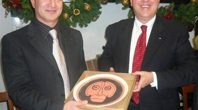 Il Prof. Gargano ed il Presidente del Club Paolo Prefumo