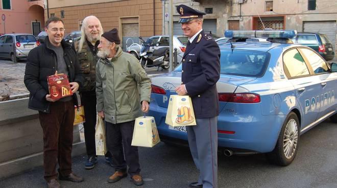 Savona - Mensa poveri con partecipazione Polizia