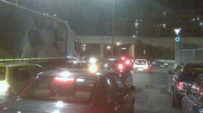 Savona - traffico intasato