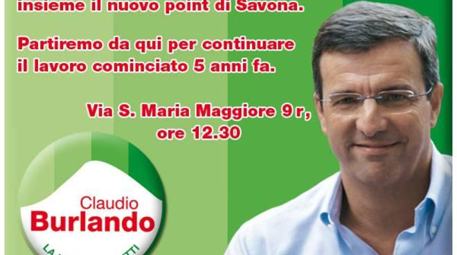 Savona - point elettorale Burlando