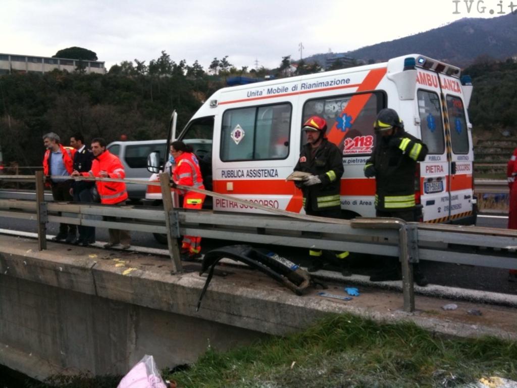Incidente viadotto autostrada Borghetto