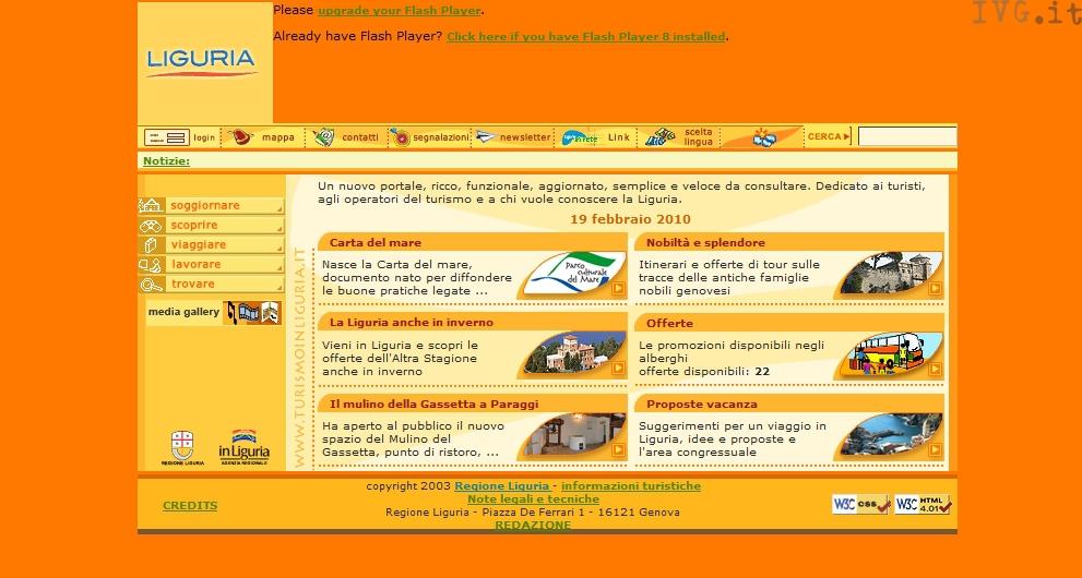 portale turismo Regione Liguria