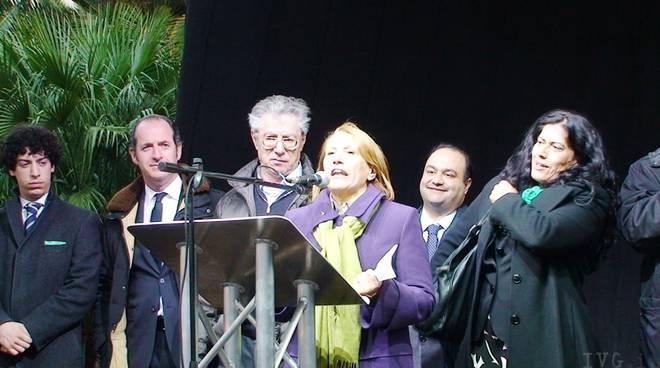 Albenga - comizio Bossi Zaia