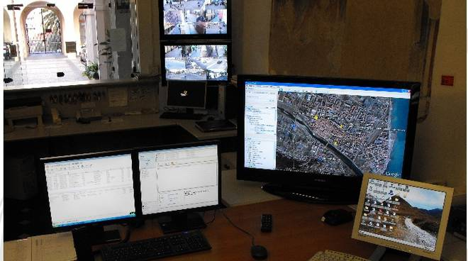 centrale operativa Polizia Municipale Albenga