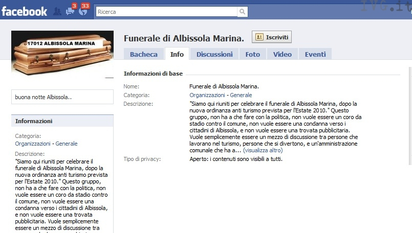 Facebook movida Albissola