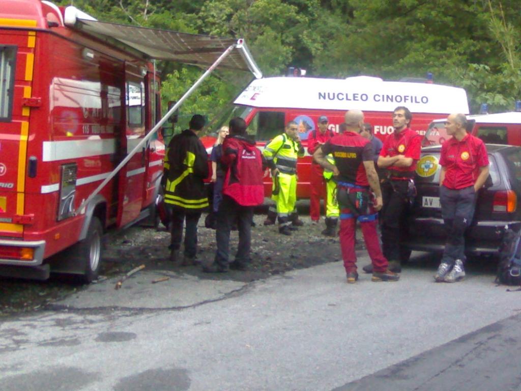 soccorso alpino e vigili del fuoco