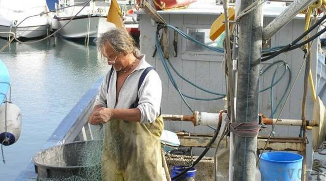 Sale e pesce ad Andora: pescatore