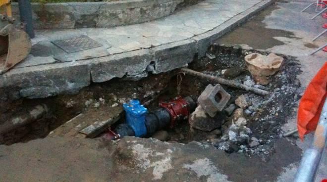 Rottura tubature acquedotto Alassio