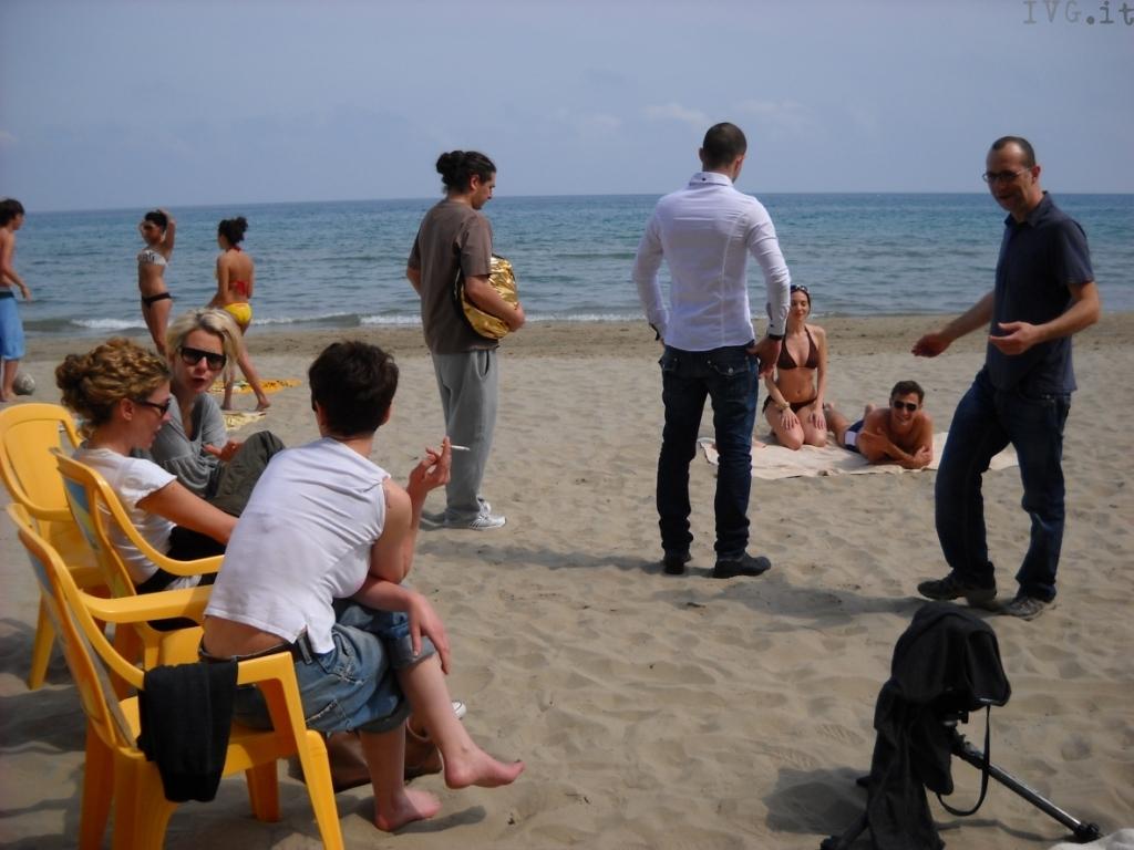 spiaggia di Alassio, set per una pubblicità