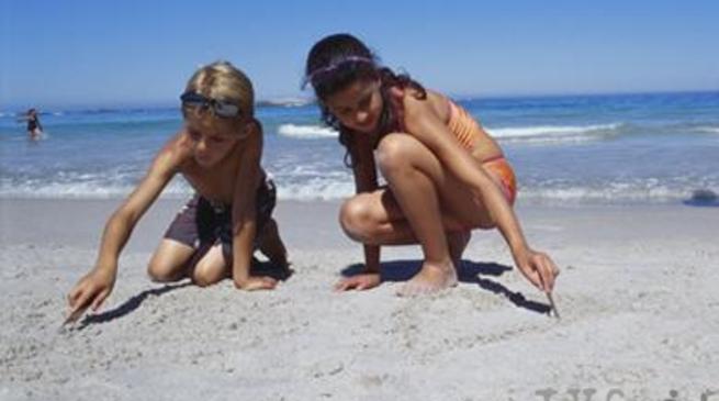 Bambini a spiaggia