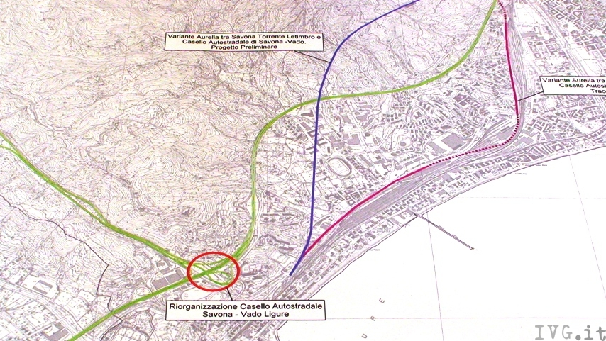 Ipotesi tracciato aurelia bis Varazze Savona