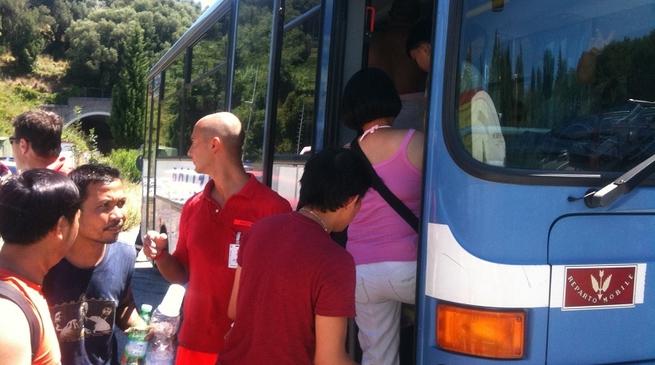 Celle incendio bus
