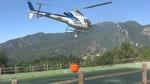 Incendio Magliolo - elicottero si rifornisce a Tovo
