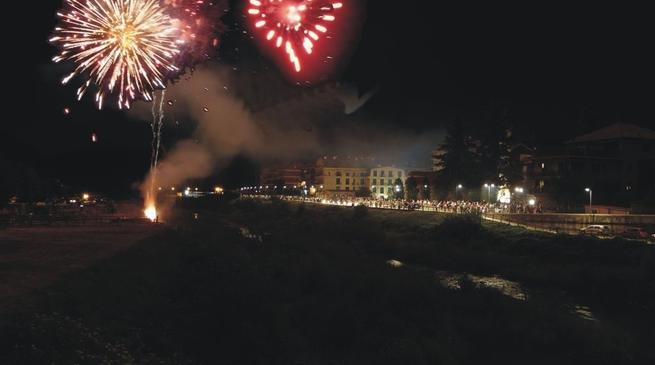 Millesimo - fuochi d'artificio