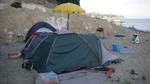 tende su spiaggia