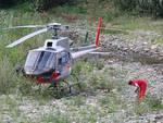 elicottero fiume Quiliano