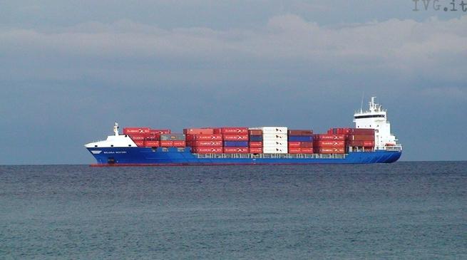 Nave, porto commerciale, porto, container, piattaforma