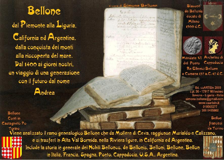 libro di Genealogia Bellone - Valbormida