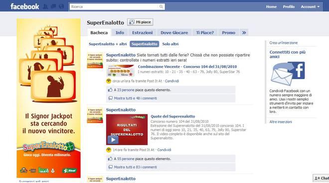 Superenalotto Facebook