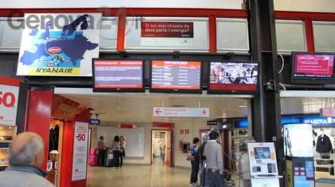 Aeroporto Colombo - pannello partenze