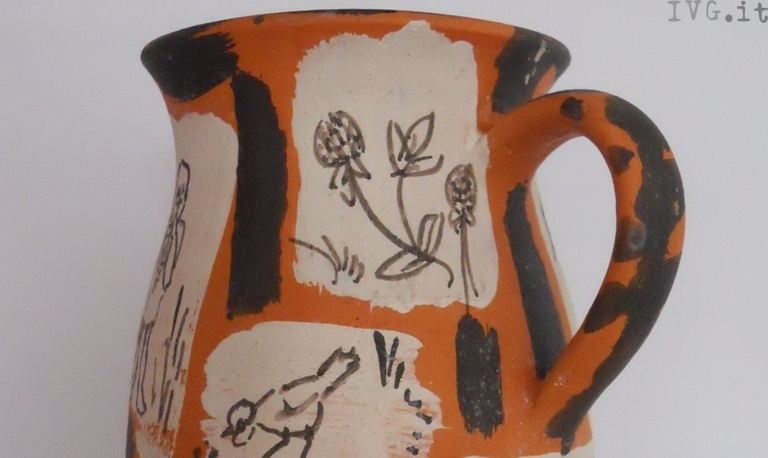 brocca, mostra, ceramica