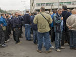 Genova - fiera - protesta nautico lavoratori amt
