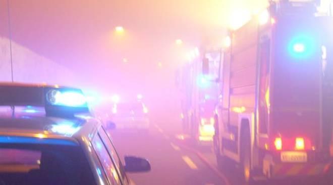 Incendio autostrada galleria