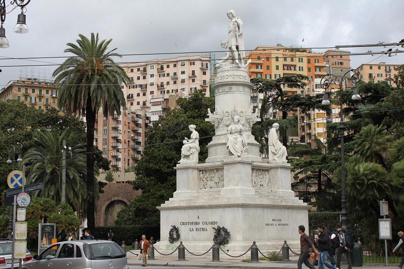 piazza principe, statua colombo