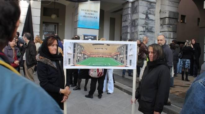 protesta Carlo Felice